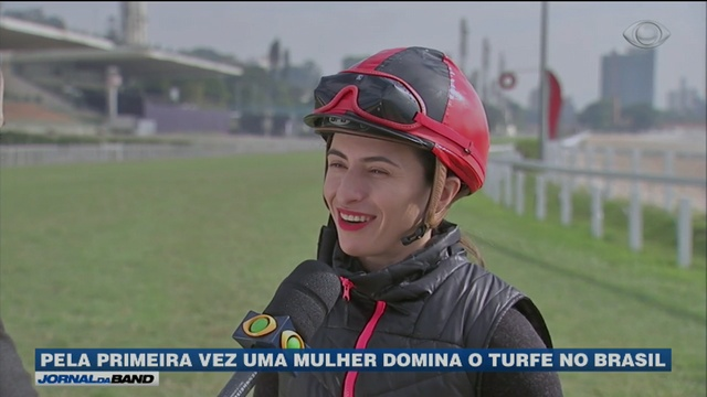 Jornal da Band: Pela primeira vez uma mulher domina o turfe no Brasil