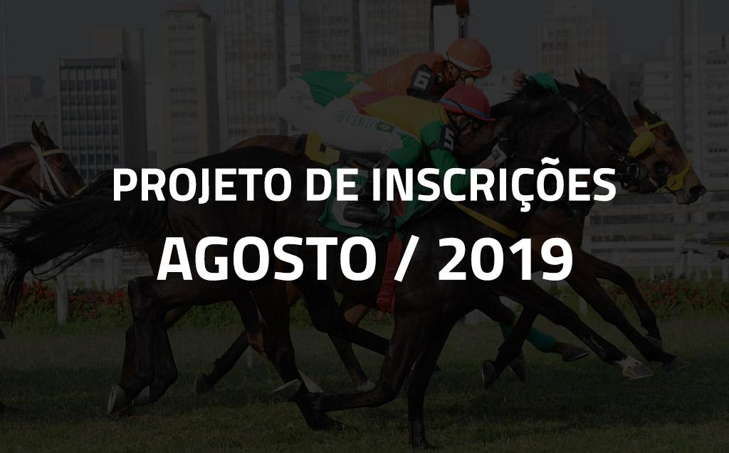 Projeto de Inscrições do mês de agosto de 2019