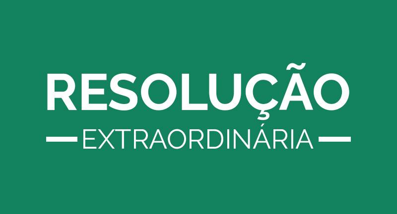 Resolução Extraordinária do dia 15 de maio de 2020 - alterações na Programação Clássica 2020