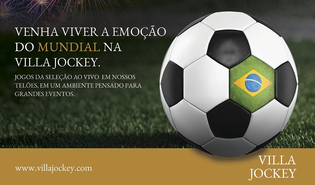 Venha viver a emoção do Mundial na Villa Jockey