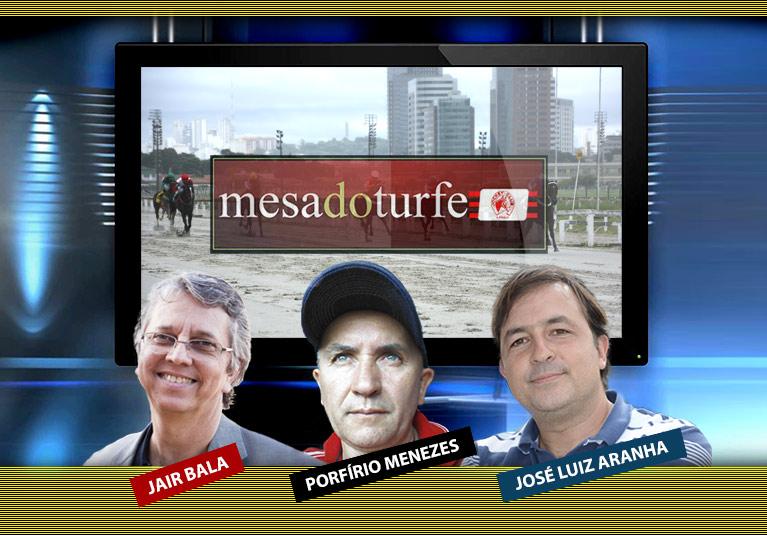 José Luiz Aranha e Porfírio Menezes são as atrações da Mesa do Turfe deste sábado